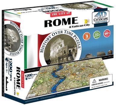 4D Cityscape - 4D Puzzle Time panorama Řím