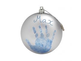 BABY ART - Vánoční koule Christmas Ball Silver
