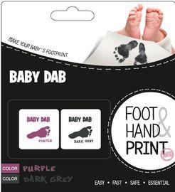 BABY DAB - Barva na dětské otisky 2ks fialová, šedá