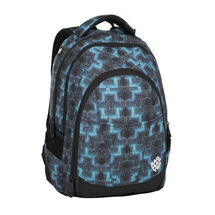 BAGMASTER - Studentský batoh DIGITAL 8 C BLACK/BLUE/GREEN