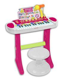 BONTEMPI - Dětské elektronické piano se stoličkou a mikrofonem 133672