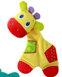 BRIGHT STARTS - Hračka - kousátko Sunggle & Teeth 0m + Žirafa