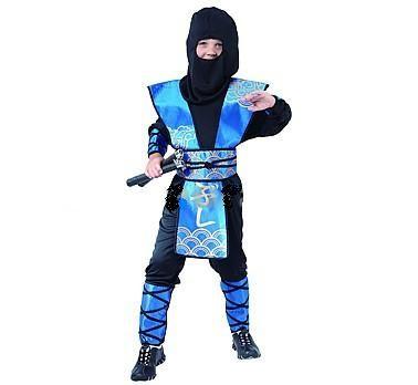 7b4fec9302fb CASALLIA - Karnevalový kostým Ninja modrý M - Market-24.cz