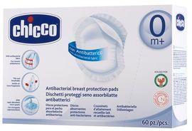 Chicco - Antibakteriální tampony do podprsenky, 60 ks