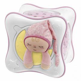 Chicco - Projektor duhová kostka - růžová