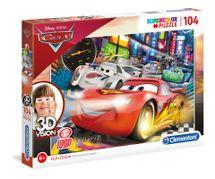 CLEMENTONI - puzzle 104 Cars 3D