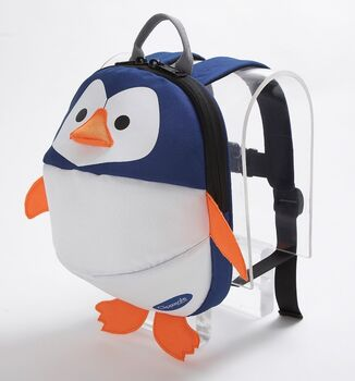 CLIPPASAFE - Dětský batoh s odnímatelným vodítkem, Penguin