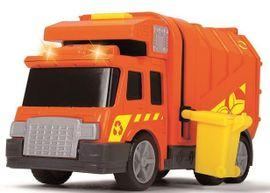 DICKIE TOYS - 3302000 Popelářský vůz 15 cm se světlem a zvukem