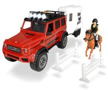 DICKIE TOYS - Dickie Mercedes V8 S přívěsem na koně 40 cm 3838002