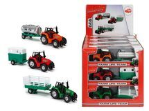 DICKIE - Traktor Kovový S Přívěsem 18 Cm (3 druhy)