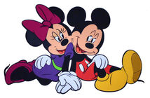 DISNEY - Mickey a Minnie (siting)