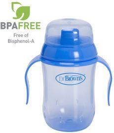 DR.BROWNS - Hrnek výukový modrý (D942) BPA FREE - vodotěsný vnitřní systém