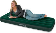 INTEX - nafukovací postel 66950 Junior Twin Downy s integrovanou pumpou