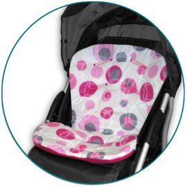 IVEMA BABY - Vložka do kočárku Uni Color - malinové bubliny / malina