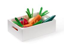 KIDS CONCEPT - Zelenina v bedýnce dřevěná Bistro