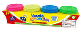 KIDS TOYS - Modelína 4X 140G Neonové Barvy
