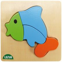 LENA - Dřevěné puzzle Ryba 32068