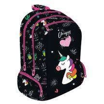 LIZZY CARD - Školní batoh Lollipop Unicorn černý