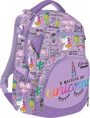 LIZZY CARD - Školní batoh Lollipop Unicorn fialový