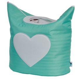 LOVE IT STORE IT - Box na prádlo - mint, bílé srdíčko