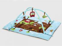 LUDI - Hrací deka s mantinelem a hrazdou Sova modrá