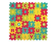 LUDI - Puzzle pěnové 90 x 90 cm, písmena a čísla