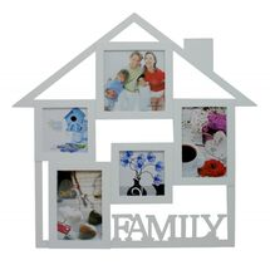 MAKRO - Fotorámeček Family, 45 x 45 cm (bílý)