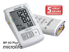 MICROLIFE - BP A3 Plus PC automatický tlakoměr na rameno