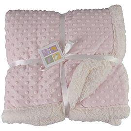 MORA - Topitos Sherpa deka, 044, 80x110, růžovo-bílá