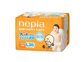 """NEPIA - Dětské kalhotkové pleny """"L"""" (9-14kg) 30 ks"""