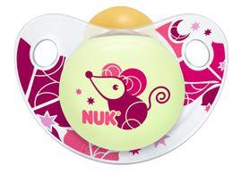 NUK - Dudlík Trendline DEN & NOC,LA,V2 (6-18m.), fialová myš