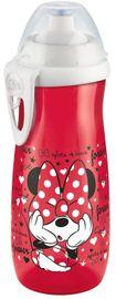 NUK - FC Láhev Sports Cup, Disney - Mickey 450 ml, SI push-pull pítko, červená