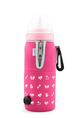 NUVITA - Cestovní ohřívač lahve se zipem, růžová