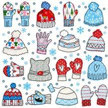 PAPER DESIGN - Papírové vánoční ubrousky Mitten and beanies