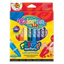 PATIO - Colorino fixy oboustranné s razítkem 10 barev