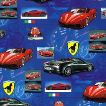 POL-MAK - Dětský dárkový papír 5098 Ferrari - 100x70 cm
