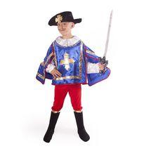 RAPPA - Kostým Mušketýr modrý s kloboukem S