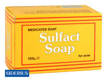 SIDERIUS - Sulfact Soap - medicinální sírové mýdlo na akné 100g