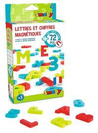 SMOBY - 430100 Magnetické velká písmena a číslice 72 kusů