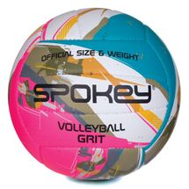 SPOKEY - GRIT Volejbalový míč tyrkysovo-bílo-růžový č.5