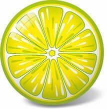 STAR TOYS - Míč citron 23cm