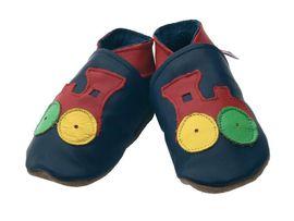 STARCHILD - Kožené botičky - Choo Navy,  Child Medium - veľkosť 4-5 let (velkost 27-28)