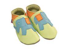 Starchild - Kožené botičky - Ellie Elephant Aqua and Sherbert - velikost M (6-12 měsíců)