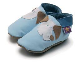 Starchild - Kožené botičky - Fido Baby Blue - velikost XL (18-24 měsíců)