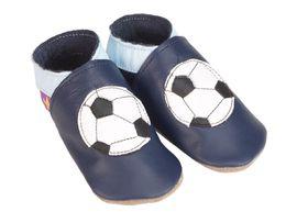 Starchild - Kožené botičky - Football navy - velikost S (0-6 měsíců)