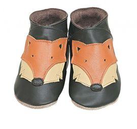 Starchild - Kožené botičky - Foxy Choc - velikost M (6-12 měsíců)