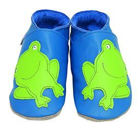 Starchild - Kožené botičky - Froggie Blue - velikost L (12-18 měsíců)