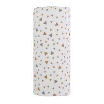 T-TOMI - Velká bavlněná TETRA osuška, beige triangles / béžové trojúhelníky