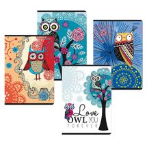 TOP 200 - Sešit A5 - linkovaný - Owls - 40 listů (balení 10 kusů)
