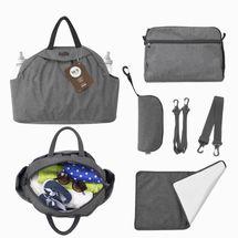 TOTS - Přebalovací taška Chic, dark grey melange